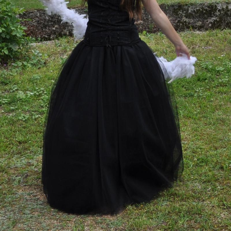 Černá dlouhá tylová sukně abb608d71f