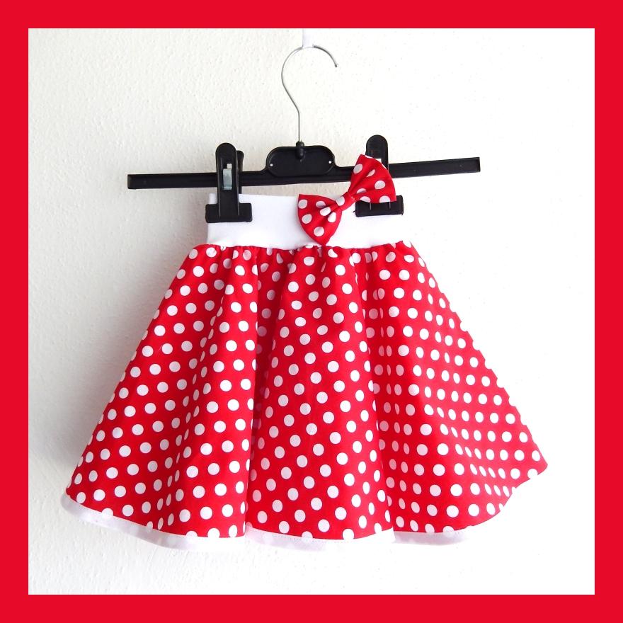 5d256683511b Červená puntíkovaná sukně - dětská