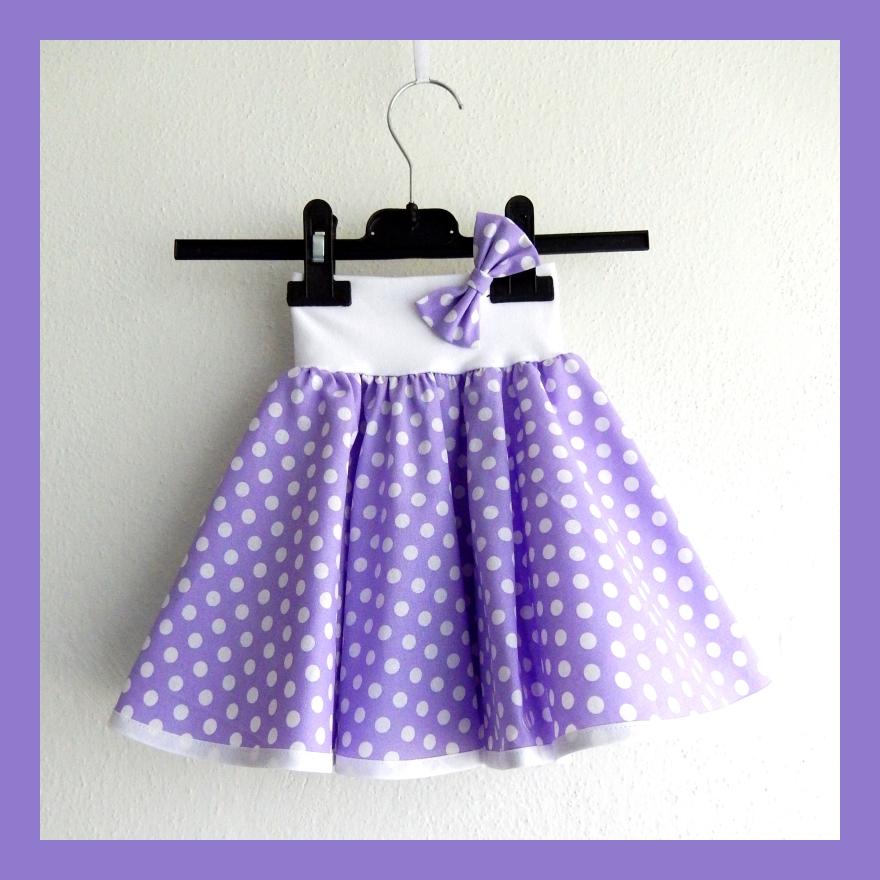 a9905320092c Světle fialová puntíkovaná sukně - dětská