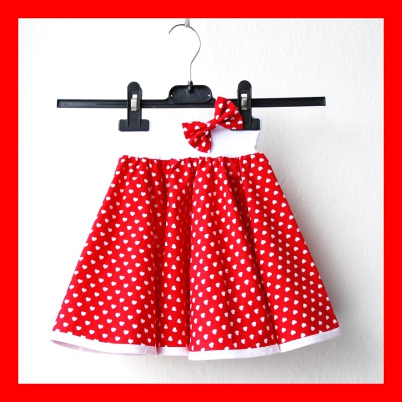 33af20c6f60a Červená srdíčkovaná sukně - dětská
