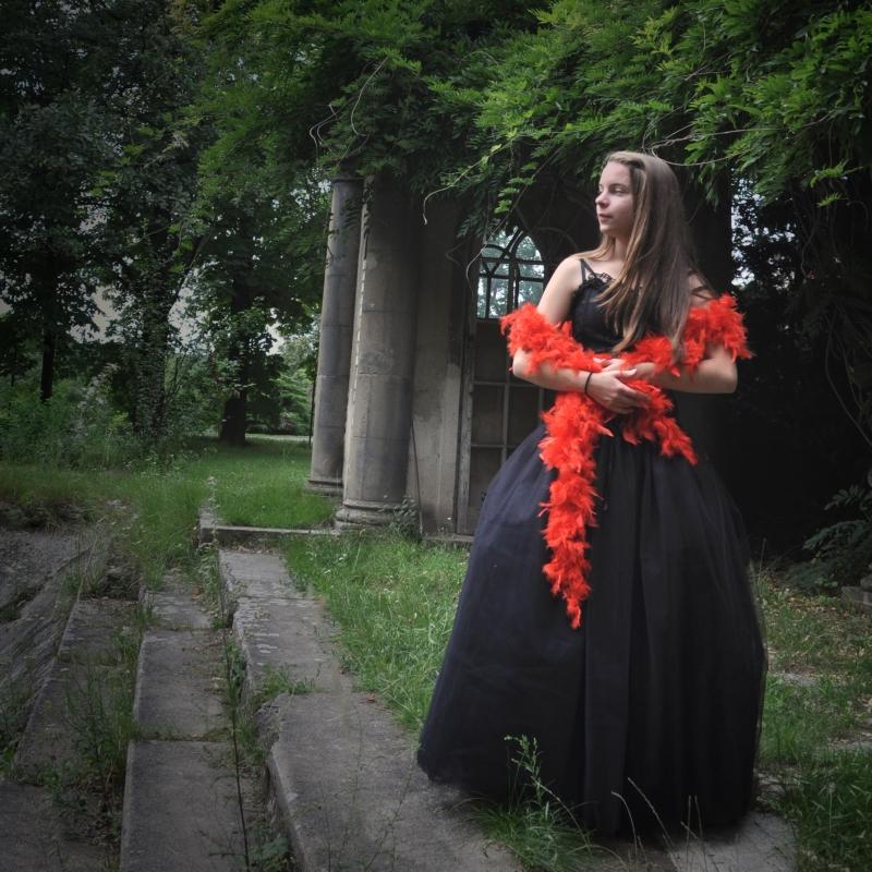 Černá dlouhá tylová sukně  2b4f6ee5eb
