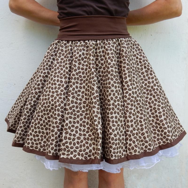 8988267b5462 Kolová sukně pro milovníky kávy