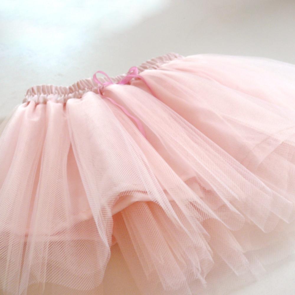 621fca775b1 Dětská světle růžová tylová sukně