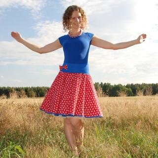 cc275bccaeba Červená sukně s kotvami empty