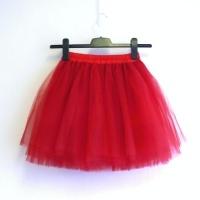 4559b13a9a6 Červená tylová sukně