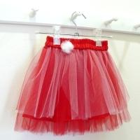 739674670ba Dětská červená tylová sukně